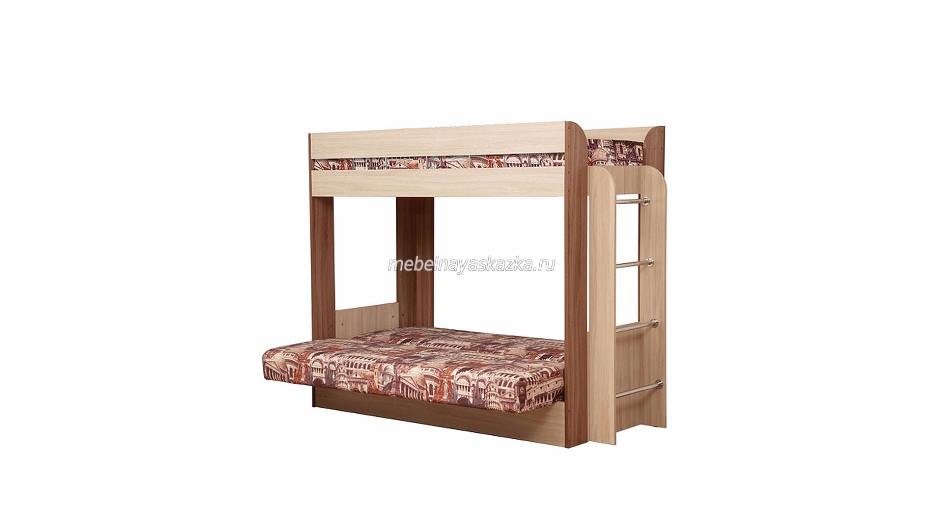 """Кровать-чердак """"Немо-Архитектура"""""""