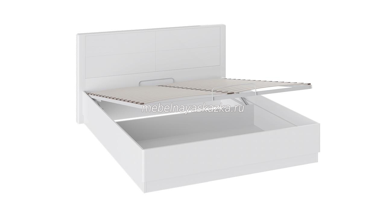 Кровать «Наоми» с п/м Белый глянец