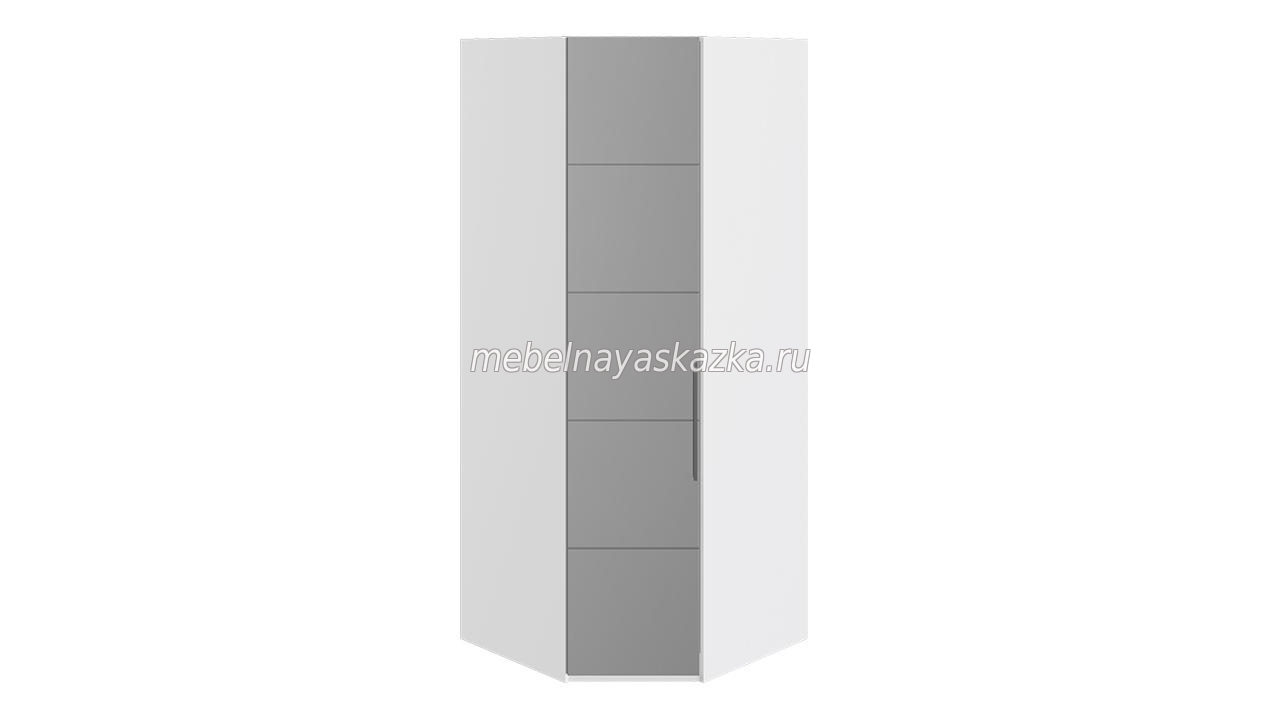 Шкаф угловой «Наоми» Белый глянец