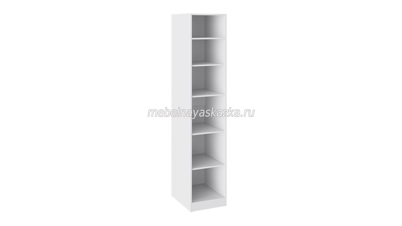 Шкаф 1-створчатый «Наоми» Белый глянец