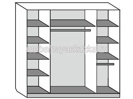 Шкаф-купе 4-х створчатый