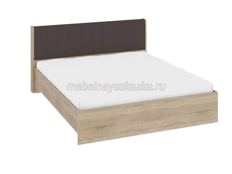 """Кровать """"Ларго"""" с мягкой спинкой какао"""
