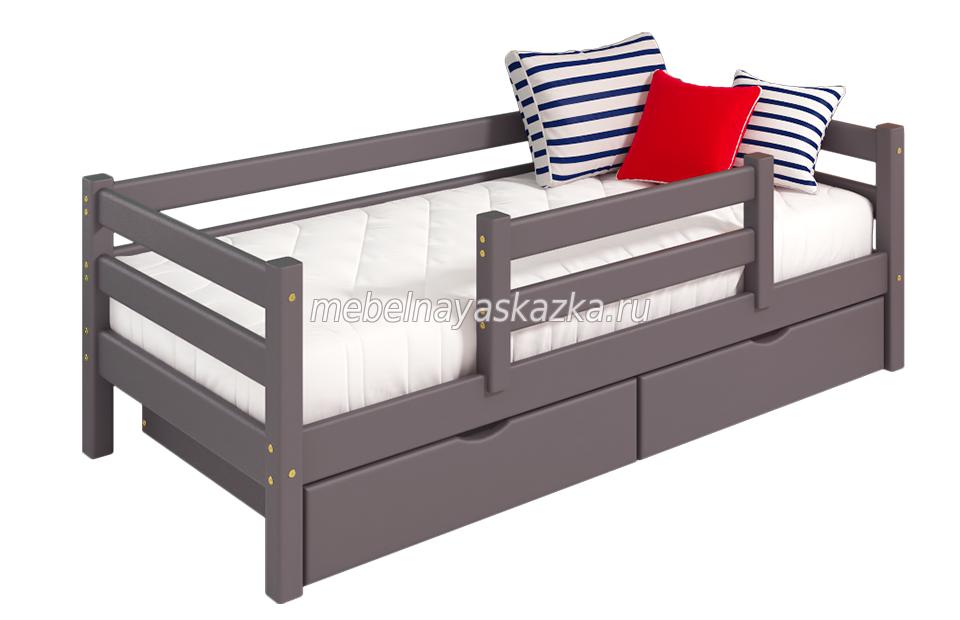 """Кровать """"Соня"""" вариант 4 с защитой по центру"""